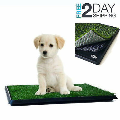 Pet Potty Trainer Grass Mat Dog Puppy Training Pee Patch Pad in Outdoor Toilet