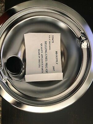 "4 GE Drip Bowl Pan Small 6"" Chrome 229675  3997"