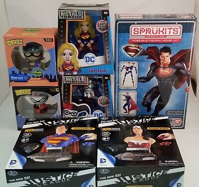 Huge Lot of DC Comics Collectibles ~Superman~Supergirl~Harley Quinn~Dorbz~Puzzle