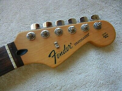Fender Stratocaster Neck >> Fender Stratocaster Strat Neck Tuners Rosewood Fretboard Great Shape 2009 Mim