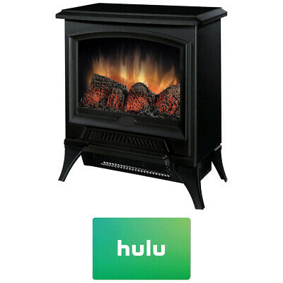 Dimplex Compact Electric Stove-Style Fireplace w/ Hulu $25 Gift Card - CS-12056A