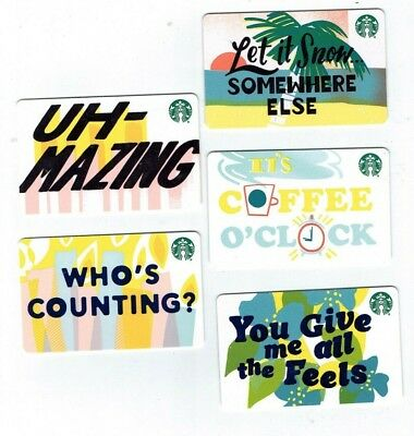 STARBUCKS Collectible Gift Card - 2019 Recycled - LOT of 5 Cards - No $ Value