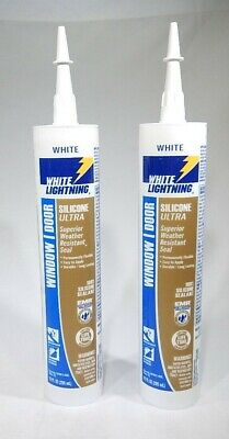 SILICONE RUBBER WINDOW And Door Sealant White 9 8 Ounce - $9 48