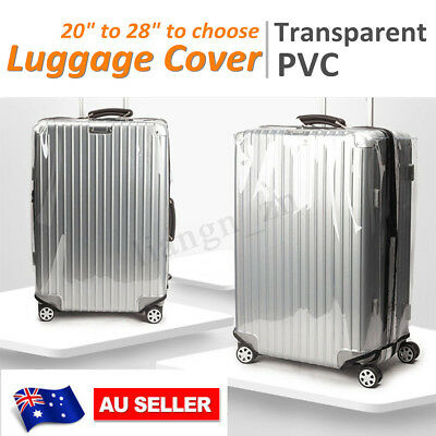 Transparent PVC Luggage Cover Suitcase Zipper Cover Dustproof Protector 20-28''