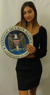 """National Security Agency All Metal Sign 14"""" Round"""