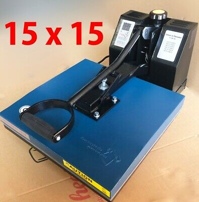 15 x 15 Digital Clamshell Heat Press Transfer T-Shirt Sublimation Press Machine