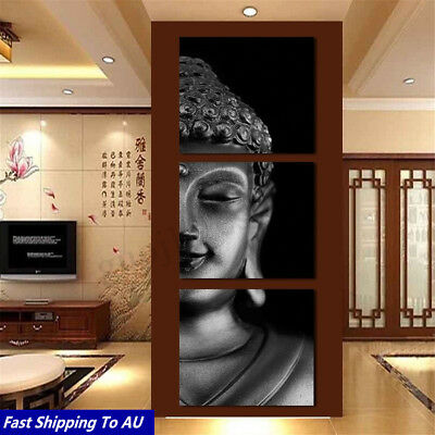 3Pcs/Set Framed Buddha Art Oil Picture Canvas Print Painting Wall Abstract Decor