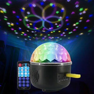 USB RGB LED Disco Ball DJ Party Light Effect Remote Sound Activated Strobe Gift