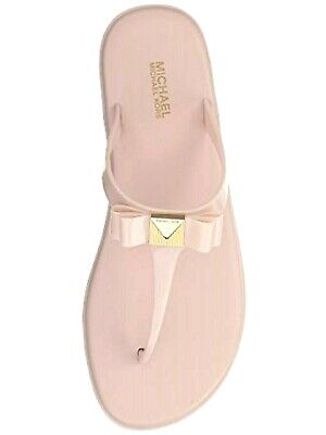 386709256 MICHAEL Michael Kors Ladies CAROLINE Jelly Thong Sandals SOFT PINK Sz. 6M  NIB