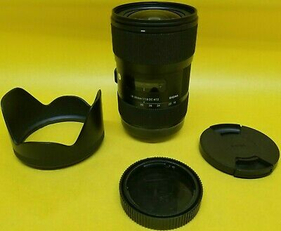 Sigma 18-35mm F1.8 Art DC HSM Zoom Camera Lens For Canon Used w/ LH780-06 Hood