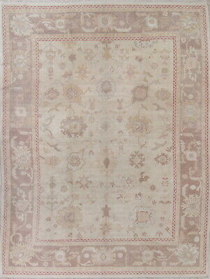 Oushak Vegetable Dye Wool All Over Muted Antique Look Oriental Area Rug 10x14