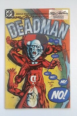 Neal Adams Deadman Rare Signed Approved Authentic San Diego Comic Con 2015 Collectibles Bronze Age (1970-83)