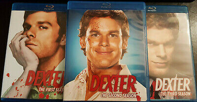 Dexter - Season 2: Complete Second (Blu-ray, 2009, 3-Disc Set) Serial Killers x2