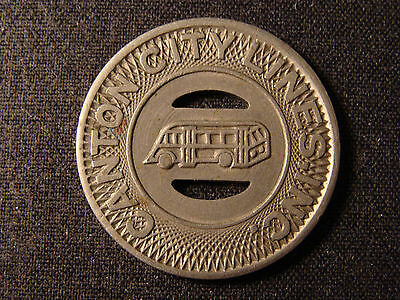 OH; City Lines Inc Canton Transit Token; OH125M