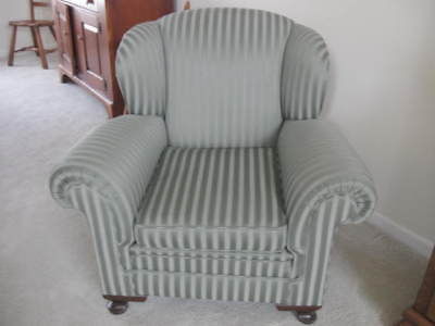 1930s Antique Upholstered arm chair. New Upholstery, original support & stuffing