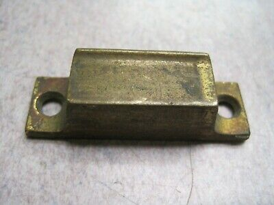 Antique vintage solid Brass cabinet  latch keeper 2 1/8 x 5 /8
