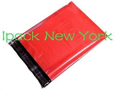 100 red 10x13 Poly Mailers Shipping Envelope  Shipping Bags