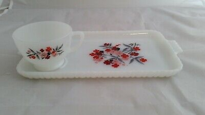 BEAUTIFUL Fire King PRIMROSE 1960'S Plate and Cup. A Must See!