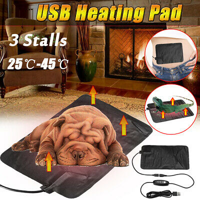 2018 Electric USB Heat Heated Pad Mat Blanket Dog Bunny Bed Cat Leather Thermal