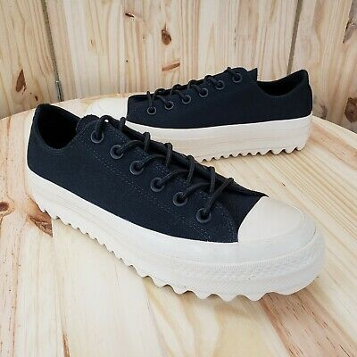 7a159f5b3364 CONVERSE Womens CTAS Lift Ripple Ox Leather PLATFORM 559860C Black Size 9  (545)
