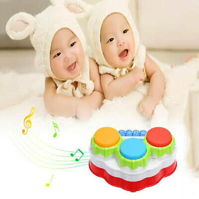 Hand Drum Baby Toy Three Button Drum Music Piano Gift For One Year Old Toddler