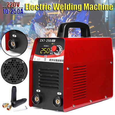 10-250A Electric Arc Welding Stick Welder Machine 220V IGBT LCD Digital Display