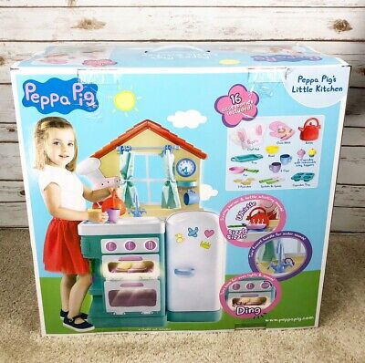Peppa Pig Kitchen Play Set Daddy Pig Figures Kids Children