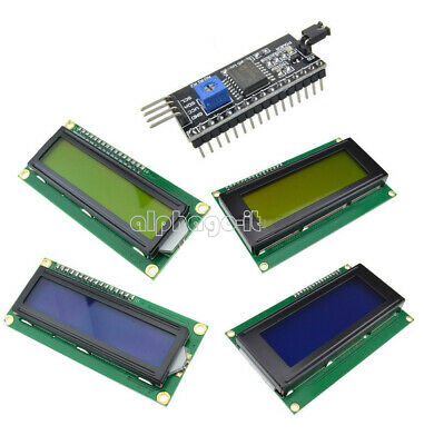 IIC/I2C/TWI/SP​​I Interface Yellow Blue 1602 2004 Character LCD Module Display