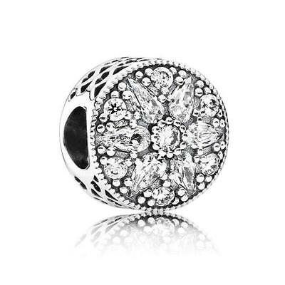NEW Authentic Pandora Sterling Silver Radiant Bloom Charm # 791762CZ