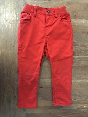 H&M Boys Red Jeans Pants Size 1