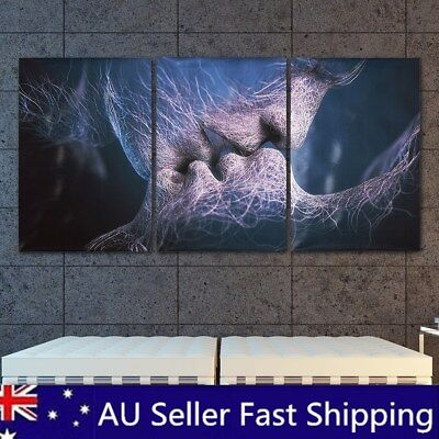 3Pcs Love Kiss Abstract Canvas Print Art Painting Picture Home Room Wall Decor