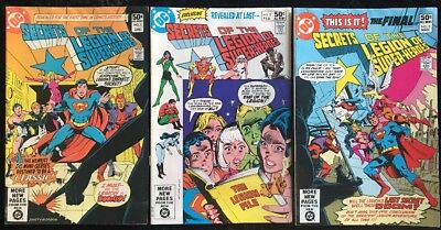 Secrets of the Legion of Super-Heroes #1 2 3 COMPLETE Series DC Comic Bronze Age