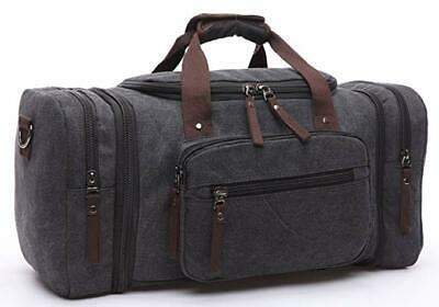Men Luggage Canvas Travel Shoulder Bags Duffle Gym Bags Large Capacity Tote Bag
