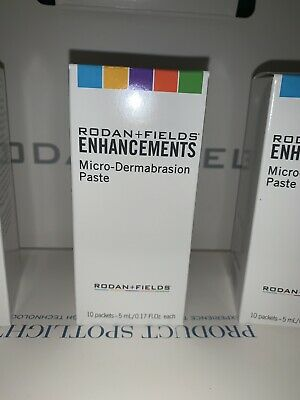 New Rodan and + Fields Enhancements MicroDermabrasion Paste 10 Packets 5ml each
