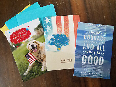CLOSE-OUT!  3 VETERANS DAY Greeting Card PACK **VALUE of OVER $8!!**vet USA