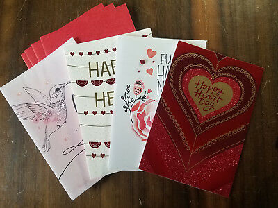 CLOSE-OUT!  4 VALENTINE'S Greeting Card PACK **VALUE of OVER $20!!** Love Friend