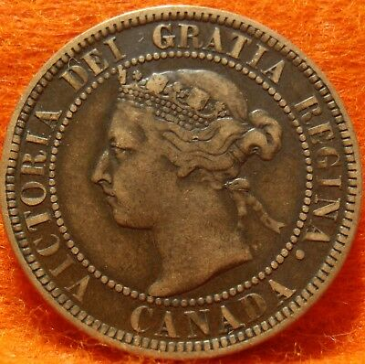 1901 XF-AU High Grade CANADA LARGE CENT Victoria COIN NoRes CANADIAN