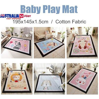 Foldable Portable Baby Kids Nursery Play Crawling Mat Thick Non-slip Room Decor