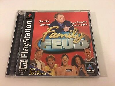 FAMILY FEUD (SONY Playstation- PS1)- Complete- Tested & Works