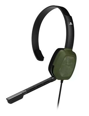 PDP PS4 Afterglow LVL1 Green Camo Wired Headset