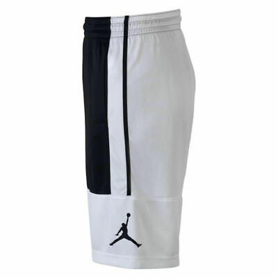81a59442f06875 NEW Nike Mens Jordan Solid Rise Basketball Shorts Size XL Black White AR2833  100
