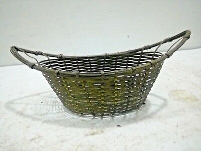 Vintage Old Rare Brass Hand Crafted Indian Beautiful Flower Basket