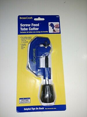 BrassCraft Tubing Cutter Screw Feed Tube Cutter 1/8- 1-1/8 in OD