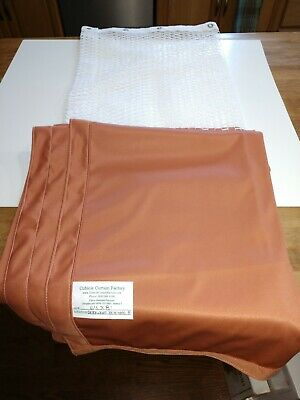 "Anti-Microbial Hospital Cubicle Curtains: 64""W X 81""L orange/ brown"