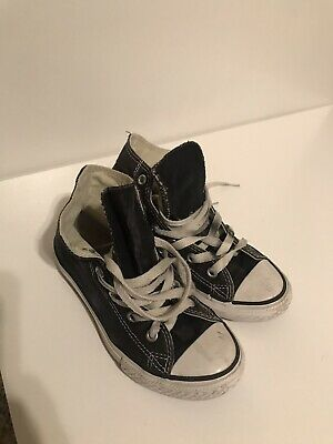 fcacc3569e2a Converse Kids Youth Black Shoes Chuck Taylor ALL STAR High Top sneakers  size 13