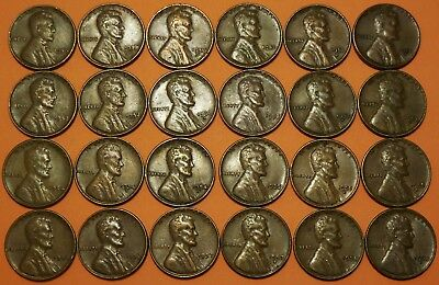 1950-1958 P D S Lincoln Wheat Cent Run 24 Penny Set