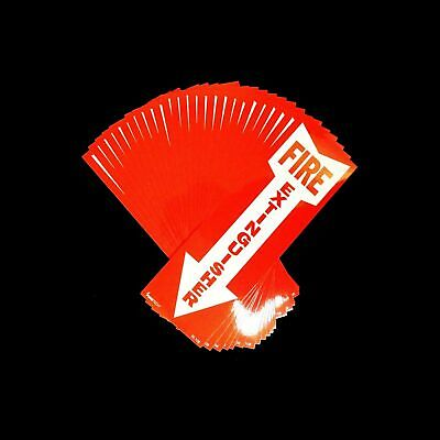 """(25-Sign) 4"""" X 12 Self-Adhesive Vinyl """"fire Extinguisher Arrow"""" Signs...new"""