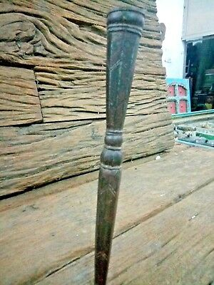 1850's ANTIQUE RARE INDO PERSIAN MUGHAL IRON SPEAR END LANCE-UNIQUE HAND CARVING