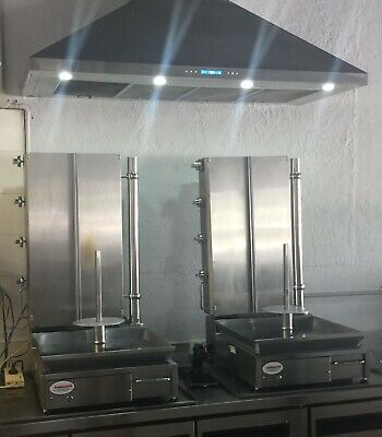 Kebab machines - 4 burner, natural gas with Canopy