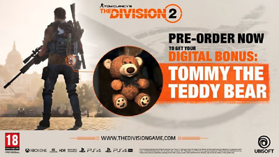 Tom Clancys The Division 2 - Tommy the Teddy Bear DLC *PS4 Playstation 4 CD-KEY*